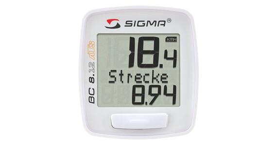 SIGMA SPORT BC 8.12 ATS Fahrradcomputer kabellos weiß